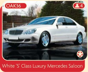 White S CLass Luxury Mercedes Saloon