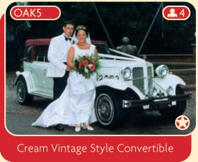 Cream Vintage Style Convertible