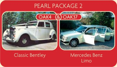 Pearl Package 2 - Classic Bentley and Mercedes Benz Limo - Click for More Details
